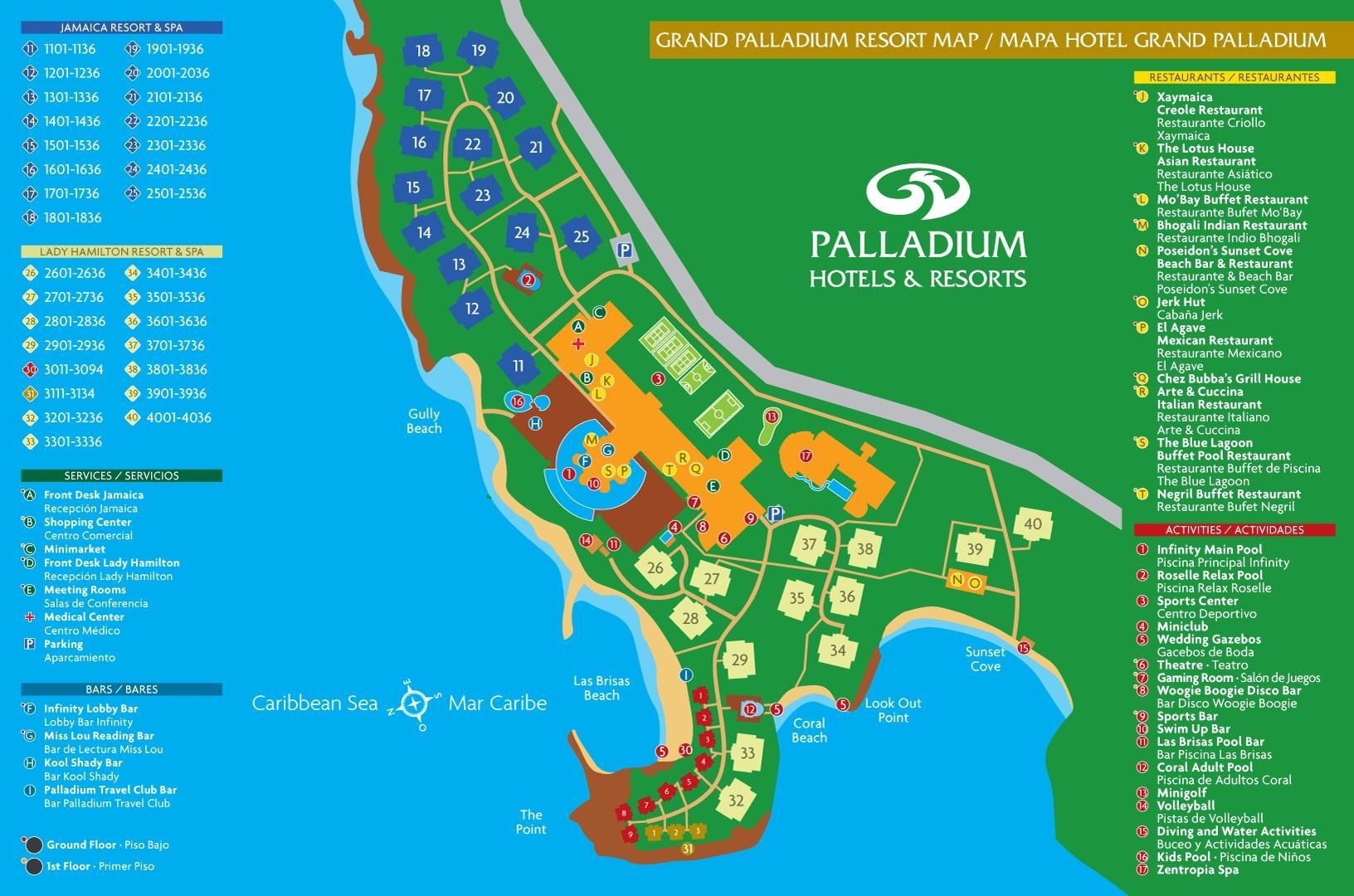 Grand Palladium Jamaica Resort Map Map Of Grand Palladium