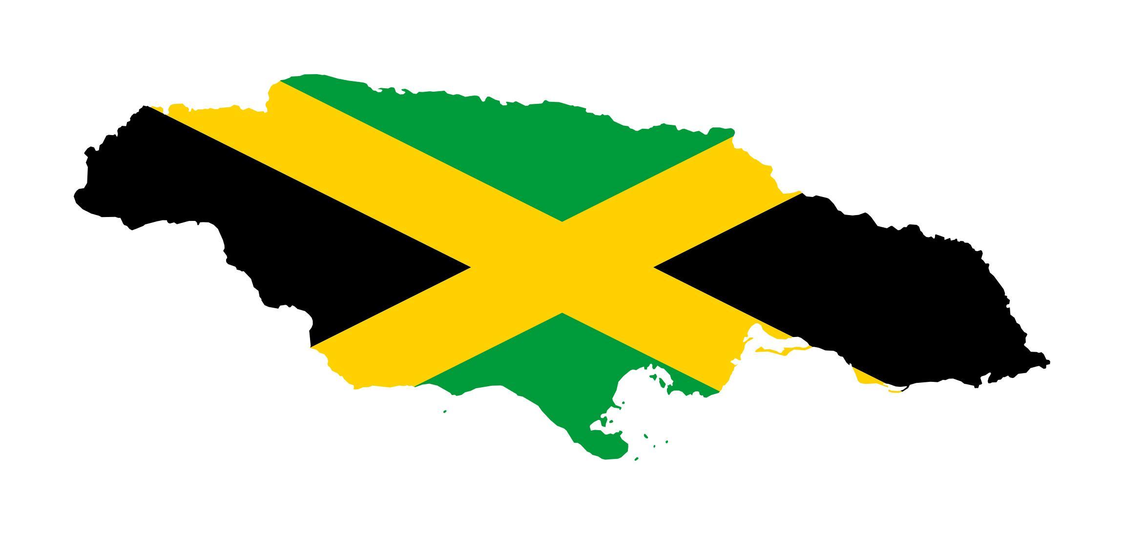 Jamaica flag map - Map of jamaica flag (Caribbean - Americas)
