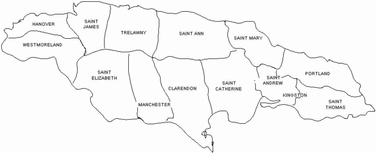 Map of jamaica parishes - Jamaica map and parishes (Caribbean ...