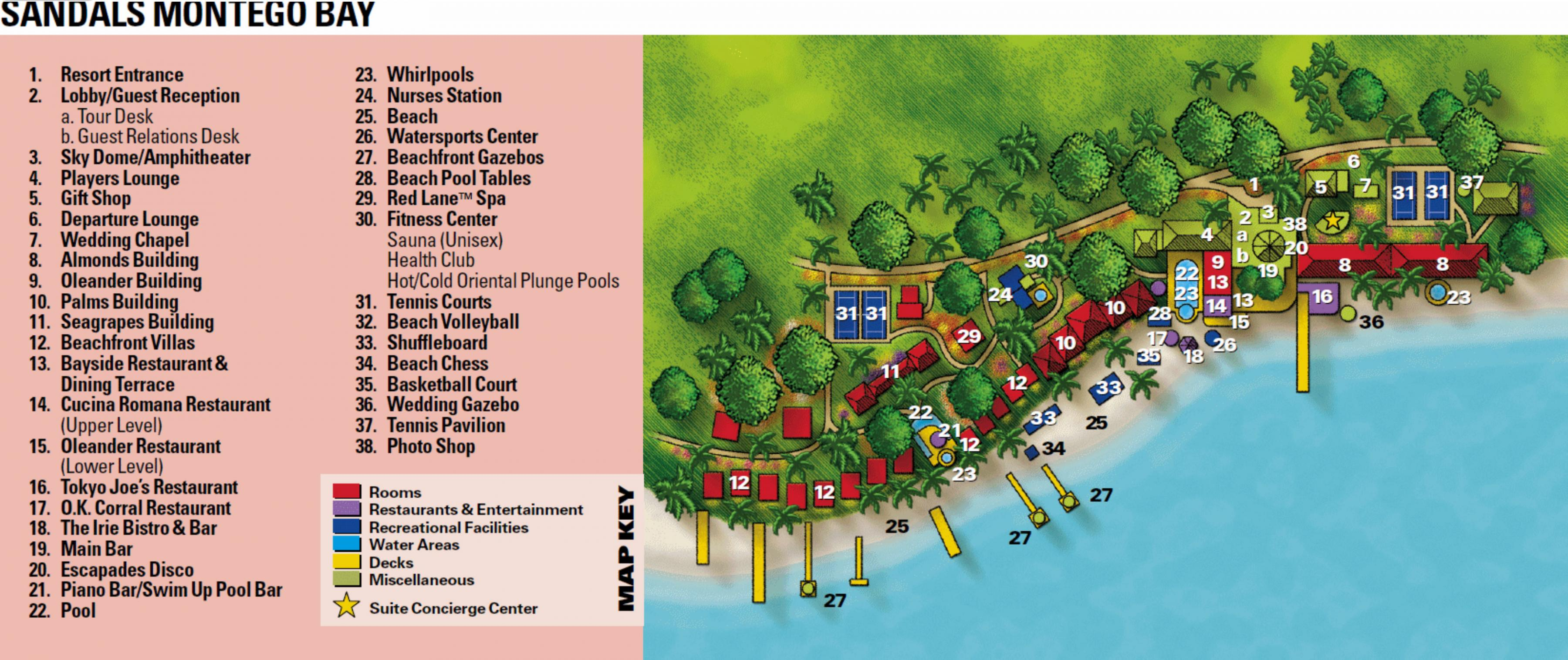 Map Of Jamaica Resorts Map of resorts in montego bay jamaica   Jamaica resort map montego