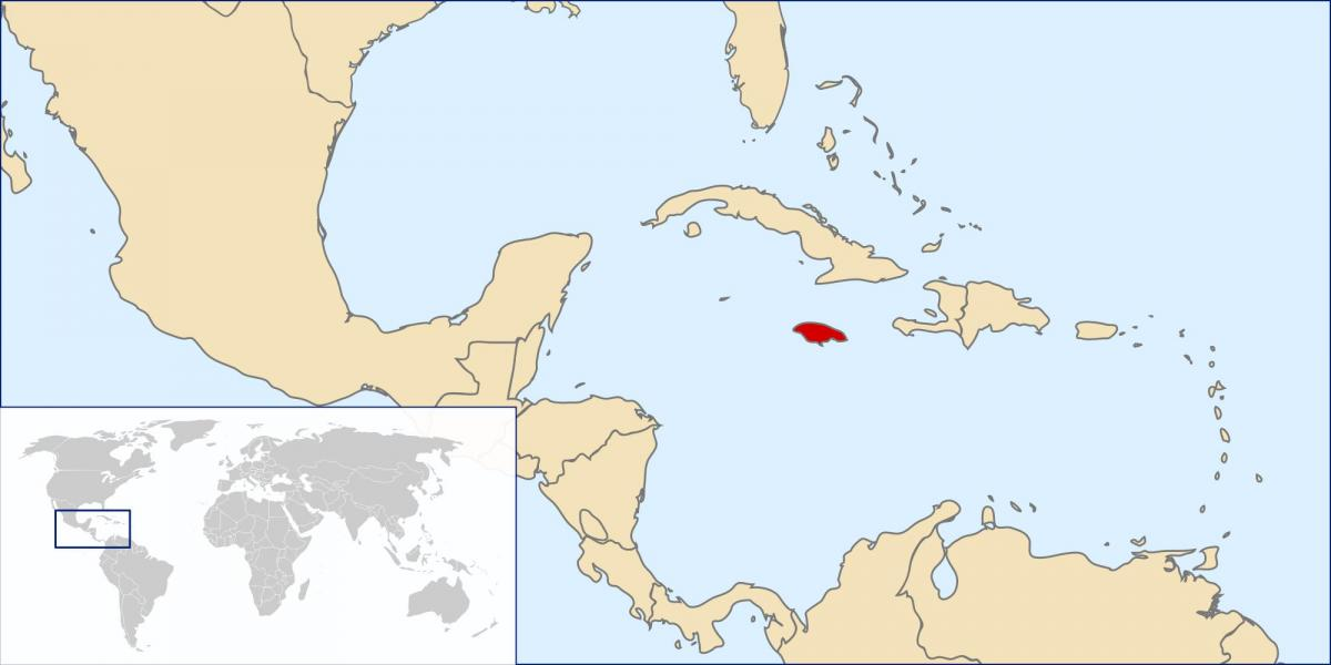 jamaica map in world