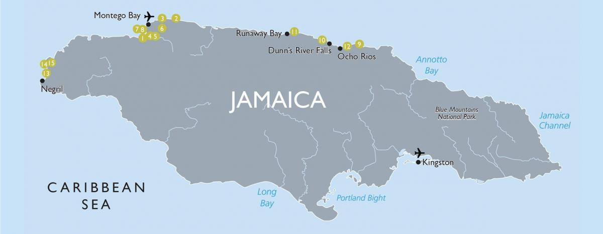 Map of jamaica airports