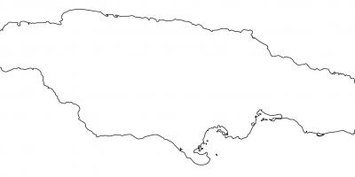Blank map of jamaica with borders