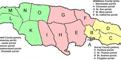 Jamaica map - Maps Jamaica (Caribbean - Americas)